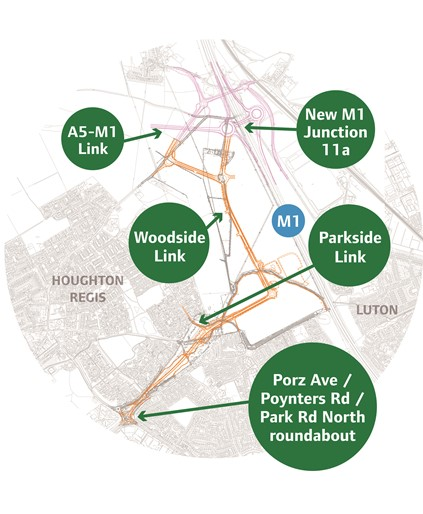 Woodside link map